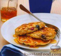 Фото к рецепту: Оладьи с мюсли