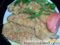 Фото к рецепту: Грудка в ореховой шубке