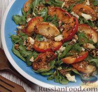 Фото к рецепту: Салат с жареными яблоками