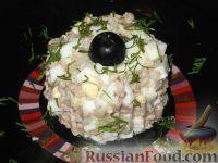 Фото к рецепту: Салат из яиц с печенью трески