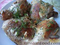 Фото приготовления рецепта: Жареные куриные окорочка - шаг №11