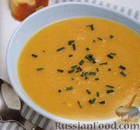 Фото к рецепту: Тыквенный суп-пюре с гренками