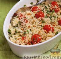 Фото к рецепту: Гарнир из кускуса с печеными помидорами