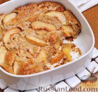 Фото к рецепту: Персиковый заливной пирог