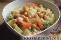 Фото к рецепту: Гарнир из нута и картофеля