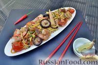 Фото к рецепту: Рисовая лапша с креветками