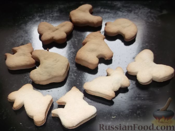 Рецепт печенья на сковороде в формочках