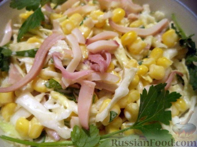 Кальмары простые салаты рецепты приготовления 4