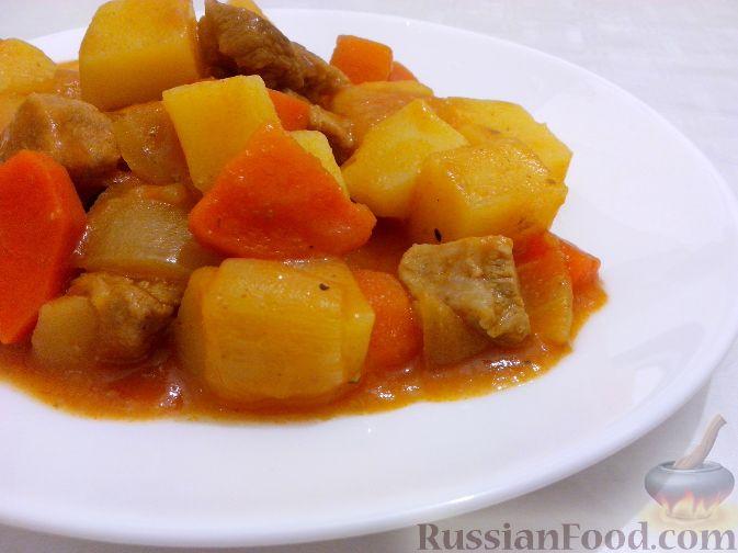 жаркое из свинины с картошкой рецепт видео в духовке