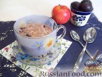 Фото к рецепту: Овсяная каша с замороженными сливами