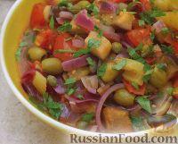 Фото к рецепту: Овощное рагу с оливками и каперсами