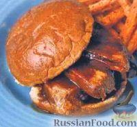 Фото к рецепту: Бургеры с жареным свиным филе
