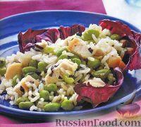 Фото к рецепту: Рисовый салат с бобами и куриным мясом