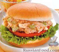 Фото к рецепту: Бургеры с куриным мясом