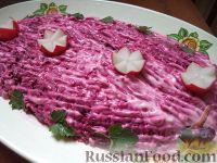 """Фото к рецепту: Салат """"Королевский"""" с отварной говядиной"""
