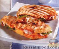Фото к рецепту: Сэндвичи с сыром и курицей (на пресс-гриле)
