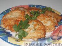 Фото к рецепту: Картофельно-куриные оладьи