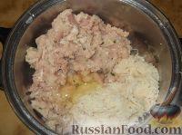 Фото приготовления рецепта: Картофельно-куриные оладьи - шаг №6