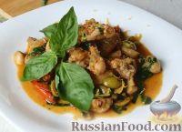 Фото к рецепту: Куриные крылышки с овощным соте