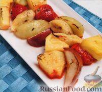 Фото к рецепту: Жареные в духовке фрукты
