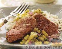 Фото к рецепту: Свиное филе с ананасовой сальсой