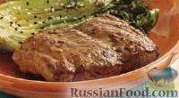 Фото к рецепту: Свиные стейки с острым соусом