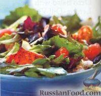 Фото к рецепту: Салат с лососем и грейпфрутом