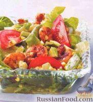 Фото к рецепту: Салат с креветками и кукурузой