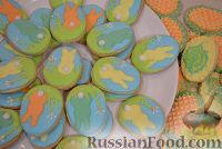 Фото к рецепту: Пасхальное песочное печенье «Зайчики»