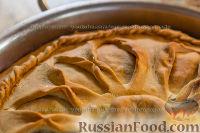 Фото к рецепту: Зур-белиш. Татарский закрытый пирог с картошкой и мясом