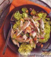 Фото к рецепту: Куриный салат с манго