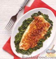 Фото к рецепту: Жареная форель с бурбоновым соусом