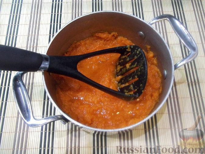 Фото приготовления рецепта: Тыквенная запеканка с яблоками - шаг №2