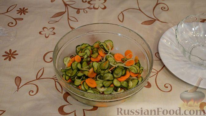 маринованный салат огород рецепт