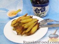 Фото к рецепту: Жареный картофель с чесночным соусом