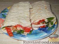 Фото к рецепту: Бутерброд-шаурма