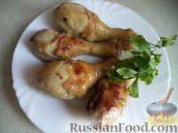 Фото к рецепту: Жареные куриные ножки в соевом соусе