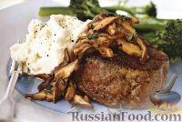 Фото к рецепту: Говяжий стейк с грибами