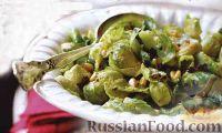 Фото к рецепту: Брюссельская капуста с шалотом и клюквой
