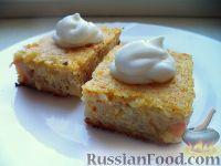 Фото к рецепту: Сладкая рисовая запеканка с изюмом