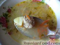 Фото к рецепту: Быстрый суп с фрикадельками и пшеном