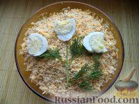 Фото к рецепту: Салат из курицы с картофелем и яйцами