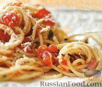 Фото к рецепту: Спагетти с томатным соусом