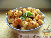 Фото к рецепту: Гренки с тертым сыром и яйцами