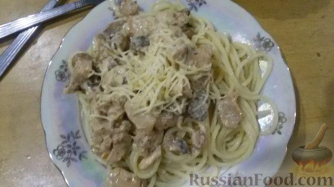 сливочно сырный соус для спагетти рецепт с фото