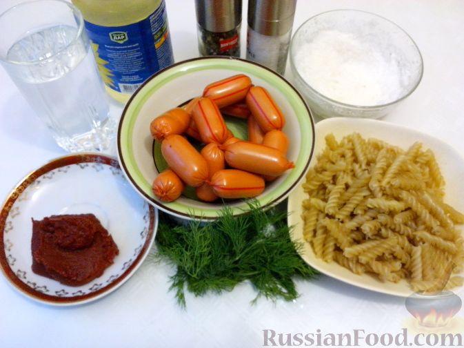 Подлива из колбасы дл¤ макарон пошаговый рецепт