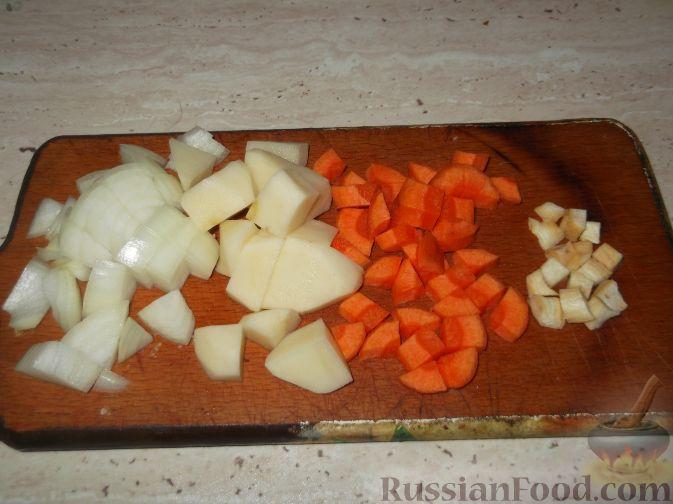 Фото приготовления рецепта: Вермишель с мясом и морковью - шаг №11
