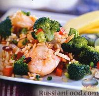 Фото к рецепту: Рагу из риса, овощей и креветок