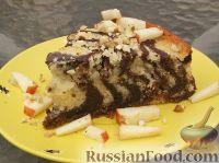 Фото к рецепту: Пирог «Зебра»