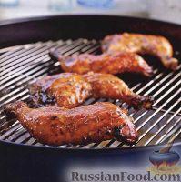 Фото к рецепту: Куриные окорочка под сладким маринадом, жаренные на гриле